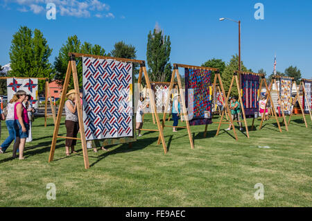 QUilts on display at the Sisters Outdoor Quilt Show, SIsters ... : quilt show sisters oregon - Adamdwight.com