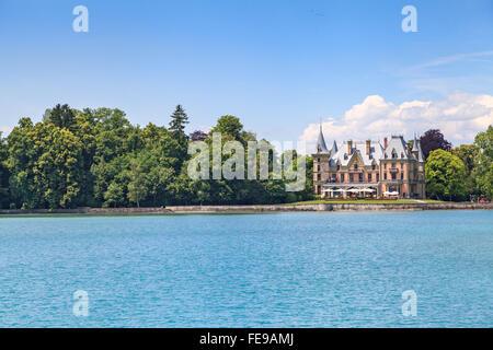 Schadau castle in Thun city, Bern Canton, Switzerland - Stock Photo