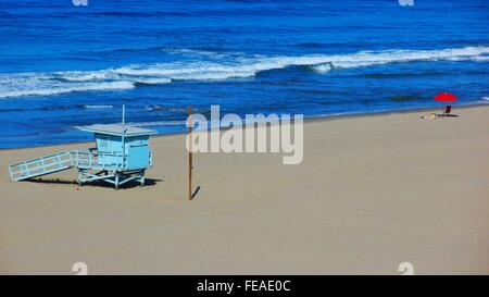 Lifeguard Hut On Beach - Stock Photo