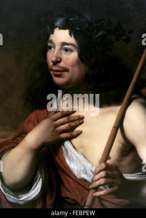 Bartholomeus van der Helst (1613-1670). Dutch portrait painter. Self-portrait as Daifilo, 1660. National Gallery. - Stock Photo