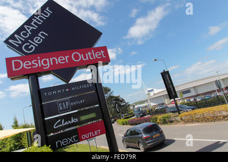 McArthur Glen Designer Outlet, Bridgend, South Wales - Stock Photo