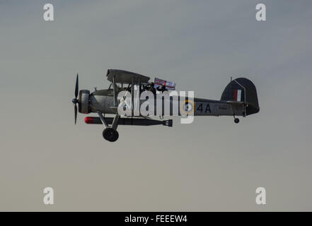 Fairey Swordfish southport airshow - Stock Photo