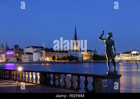 View of Gamla Stan (Old city) in Stockholm, Sweden - Stock Photo