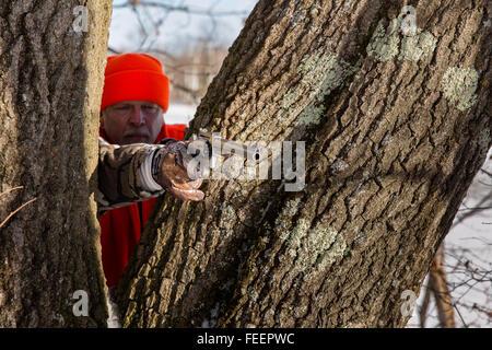 Late season Wisconsin hunter - Stock Photo
