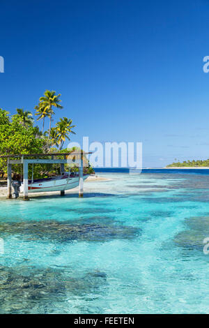 Lagoon at Tetamanu, Fakarava, Tuamotu Islands, French Polynesia - Stock Photo