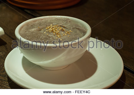A mashed taro dish in the Three lanes seven alleys old town area of Fuzhou - Stock Photo