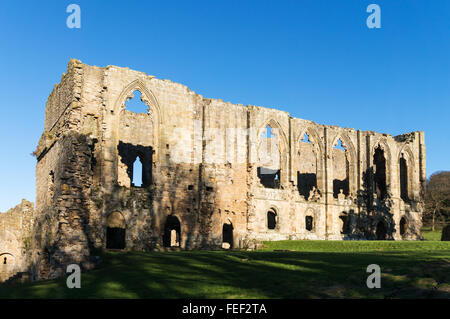 The Abbey of St Agatha or  Easby Abbey, near Richmond, North Yorkshire, England, UK - Stock Photo