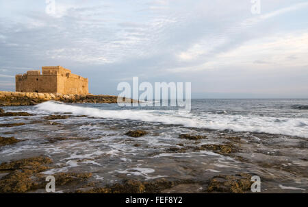 Famous medieval castle at Paphos in Cyprus. - Stock Photo