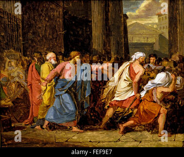 Jesus Driving the Merchants from the Temple 1784 Anne Louis Girodet Trioson1767 -1824 France French - Stock Photo