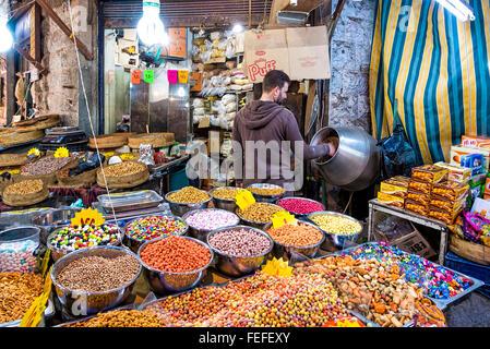 Amman, Jordan - April 02, 2015: View of Souq Market in Amman downtown. - Stock Photo