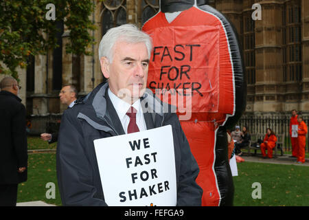London, UK, 15th Oct 2015: Fast For Shaker Press Launch, Celebrities, MPs and Campaigners Start Rolling 24-Hour - Stock Photo