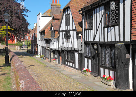 Rye, Sussex. Medieval timber framed houses in Church Square, Rye, East Sussex, England, United Kingdom, UK, Great - Stock Photo