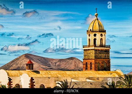 Iglesia de Nuestra Señora de Guadalupe, Church, Teguise, Lanzarote, Canary Islands - Stock Photo