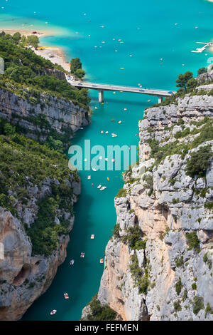 The Verdon gorge, Provence, France. top view - Stock Photo