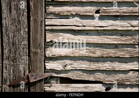 Century Old Barn Detail - Stock Photo
