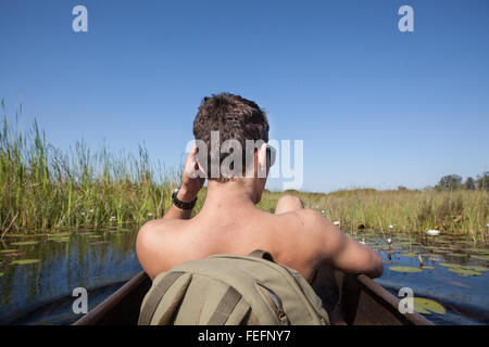 floating on the delta - Stock Photo