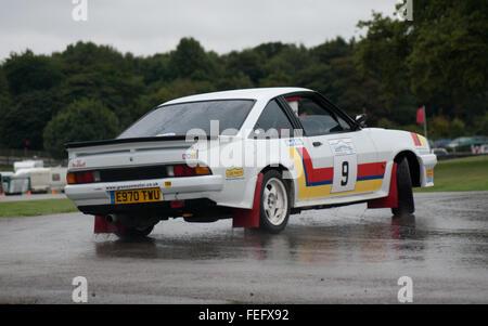 Opel Manta Rally car drift gold cup - Stock Photo