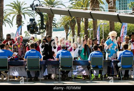 Los Angeles, CA, USA. 06th Feb, 2016. Contestants are filmed at the Los Angeles auditions for the 11th season of - Stock Photo