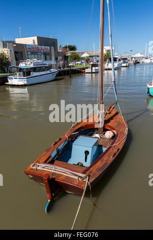 Vintage Wooden Sailboat Stock Photo 168676954 Alamy