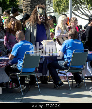 Los Angeles, CA, USA. 06th Feb, 2016. Contestants register at the Los Angeles auditions for the 11th season of the - Stock Photo