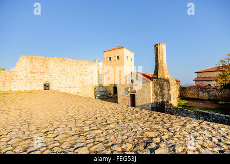 The Church of St. Maria, built by Venetions in 1510 located in old town of Ulcinj, Montenegro - Stock Photo