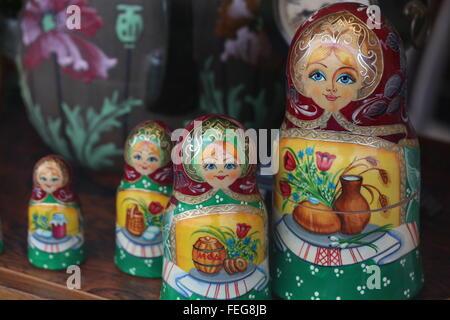 Matroschka dolls from Russia - Stock Photo