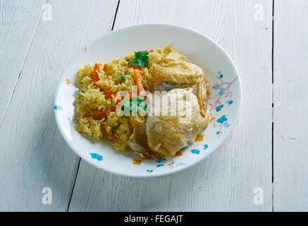 Kenyan Chicken biryani - similar  Indian biryan.African cuisine - Stock Photo