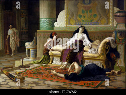 The Death of Cleopatra 1899 Louis Marie Baader 1828 - 1920 France French ( Cleopatra VII Philopator 69 –  30 BC - Stock Photo