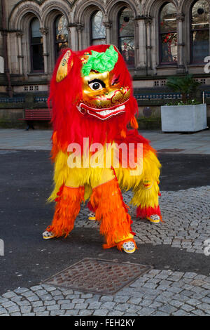 Manchester  7th February, 2016. Chinese New Year Dragon Parade.  The Year of the Monkey parade was led by a spectacular - Stock Photo