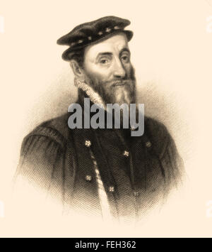 Sir Thomas Gresham the Elder, 1519-1579, an English merchant and financier - Stock Photo