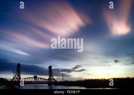 Nacreous Cloud over Newport - Stock Photo