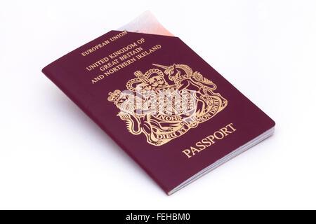 Expired UK european union passport - Stock Photo