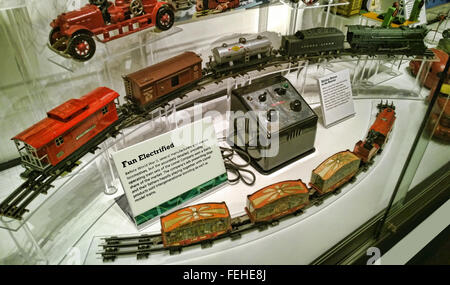 Rochester , New York. Strong Museum of Play. Lionel Trains display - Stock Photo