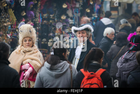 Characters of the Venice Carnival. - Stock Photo