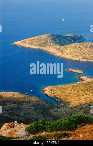 Sailing in Croatia near Lastovo island. - Stock Photo