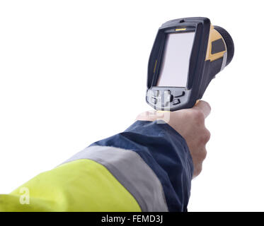 Speed gun isolated on a white background - Stock Photo