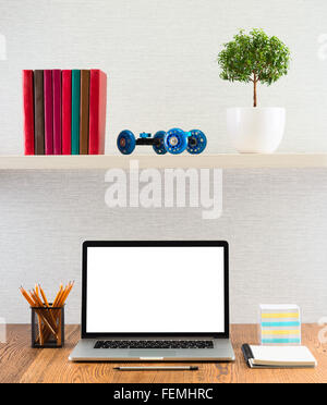 Workplace with modern gadgets - Stock Photo