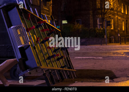 Foosball Board On Street At Night - Stock Photo