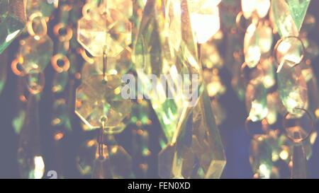 Close Up View Of Transparent Crystals - Stock Photo
