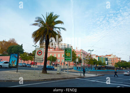 Largo do Rato, Sao Bento, Lisbon, Portugal - Stock Photo