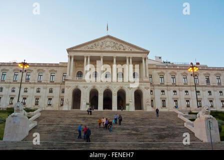 Sao Bento Palace, houses, Assembleia da Republica, the Assembly of Portugal, Lisbon, Portugal - Stock Photo