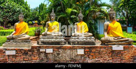 Statue Of Buddha In Wat Yai Chai Mongkhon - Stock Photo