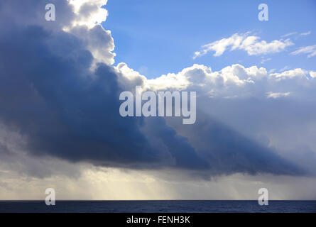 Thunderstorm over the Ocean - Stock Photo