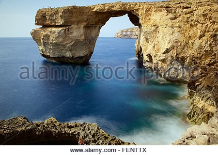 Azure window, Gozo, Malta - Stock Photo
