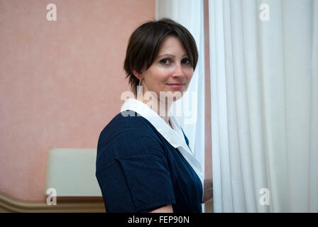 Portrait of a hotel maid - Stock Photo