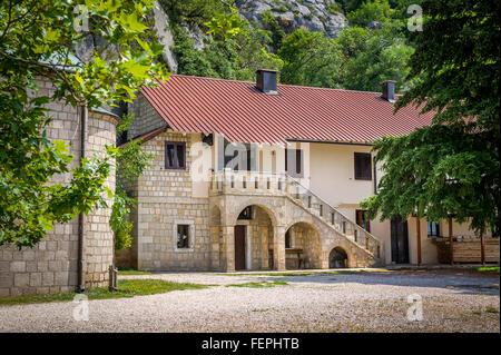 Buildings of Ostrog monastery - Stock Photo
