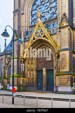 Fragment of Linz New Cathedral in Linz of Austria - Stock Photo
