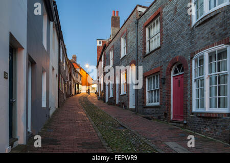 Evening on Keere Street in Lewes, East Sussex, England. - Stock Photo