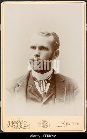 Portrett av fotograf Anders Beer Wilse (1865-1949), 1892 / Portrait of photographer Anders Beer Wilse (1865-1949), - Stock Photo