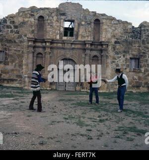 Alamo Village, Brackettville, Texas, 1971 - Stock Photo